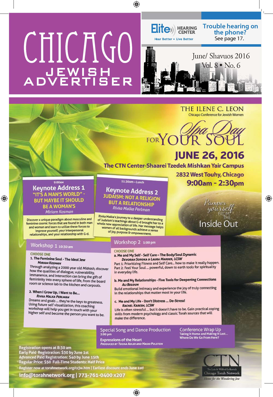 June 2016   Chicago Jewish Advertiser